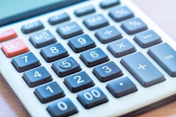Office Calculator Close Up