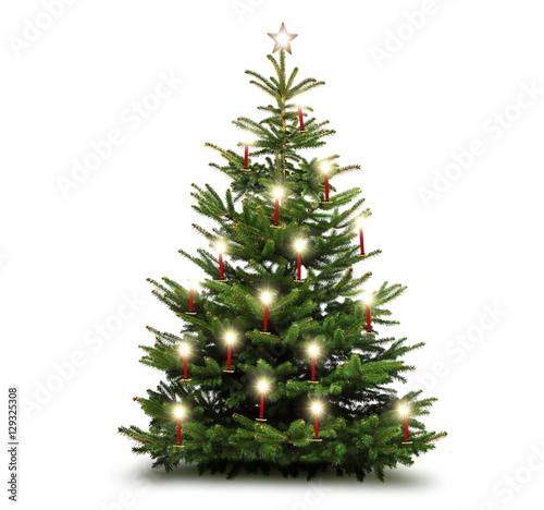 weihnachtsbaum mit kerzen stock photo and royalty free. Black Bedroom Furniture Sets. Home Design Ideas