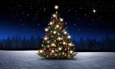 Wall Mural - Weihnachtsbaum mit Kerzen