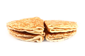 a stack of freshly baked pancakes as part of the traditional and festive meal
