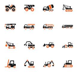 construction machinery icon set
