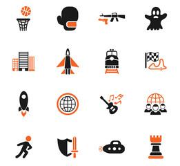 game genre icon set