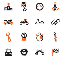 moto racing icon set