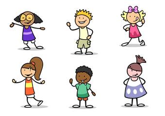 Viele verschiedene Kinder als Gruppe