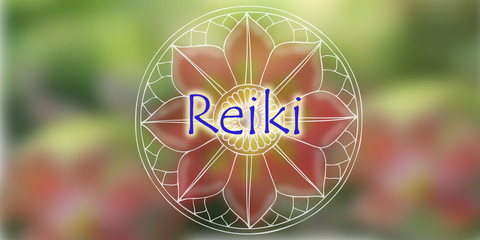 Natural background Reiki