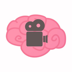 Isolated brain with a film camera