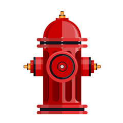 Red fire hydrant icon isolated on white vector