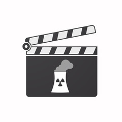 Isolated clapper board with a nuclear power station