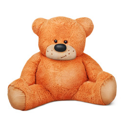 sitting brown teddy bear plush toy