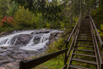 stairway beside the falls