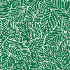 Printed roller blinds Tropical Leaves Elegant seamless pattern leaves