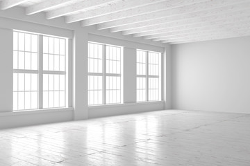 White studio or office blank space.