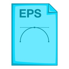 EPS file icon. Cartoon illustration of EPS file vector icon for web