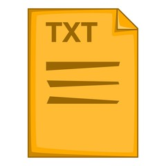 TXT file icon. Cartoon illustration of TXT file vector icon for web