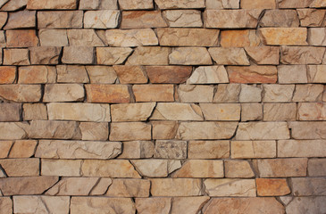The old brick background. Medieval, antique textured wall fence.