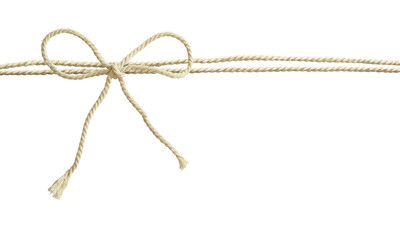 White cotton rope bow