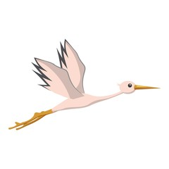Stork icon. Cartoon illustration of stork vector icon for web