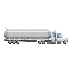 Truck carries petrol icon. Cartoon illustration of truck carries petrol vector icon for web