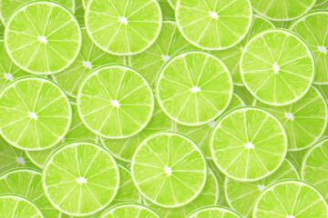 Background of lime sliced pieces