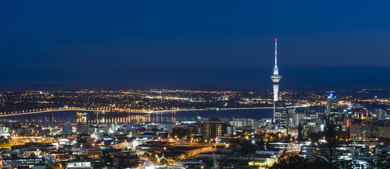 Blue Hour from Mount Eden