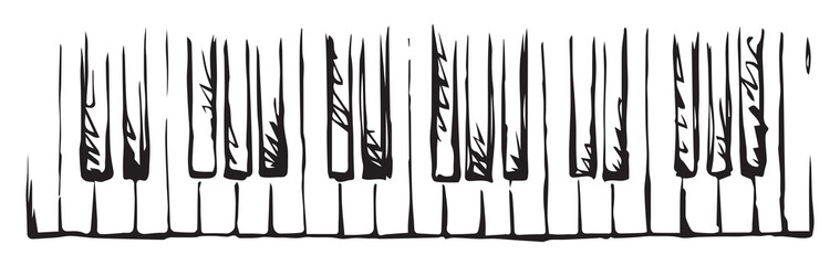 Piano Keys. Vector drawing