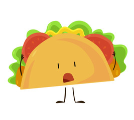 Funny fast food taco icon