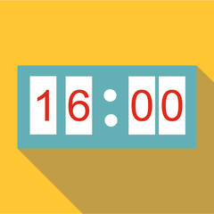 Electronic watch icon. Flat illustration of electronic watch vector icon for web