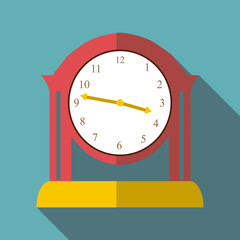 Table clock icon. Flat illustration of table clock vector icon for web