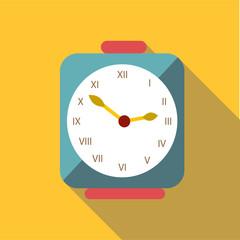 Square clock icon. Flat illustration of square clock vector icon for web