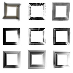 set vintage frames for photos