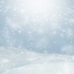 Beautiful winter background. Landscape with bokeh.