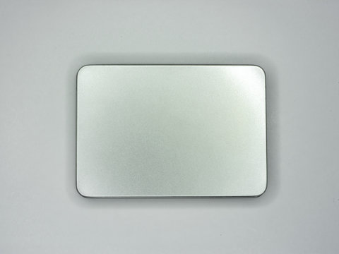 Silver Box on White Background