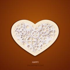 Vector modern valentines day background.