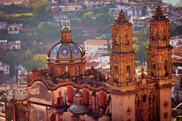 Santa Prisca church in Taxco, Mexico