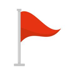 flag warning danger alert vector illustration eps 10