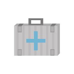 kit first aid cross emergency medical vector illustration eps 10