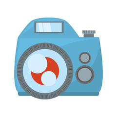 photo camera flash picture beach vector illustration eps 10