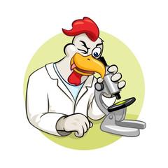 Rooser scientist vector illustration
