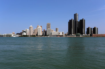 Skyline of Detroit Michigan