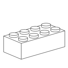 Line drawing of a building block