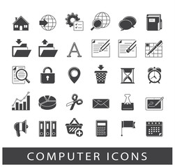 Set of computer icons. Icons for web and communication technology. Collection of premium quality computer icons.