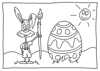 Ausmalbild Ostern
