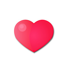 Pink heart on a white background.