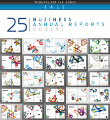 Mega collection of 25 business annual reports brochure cover templates
