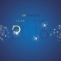The End 2016 unloading spark firework gold blue vector