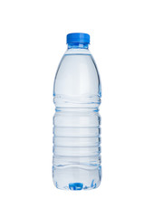Plastic bottle of still healthy water isolated