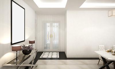 The luxury design interior of living room foyer