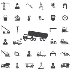 Chemical truck icon. Construction icons universal set for web and mobile