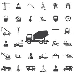 concrete mixer icon. Construction icons universal set for web and mobile
