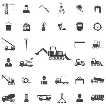 Loader icon. Construction icons universal set for web and mobile